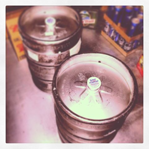 The beautiful kegs for the night. We kicked them both.