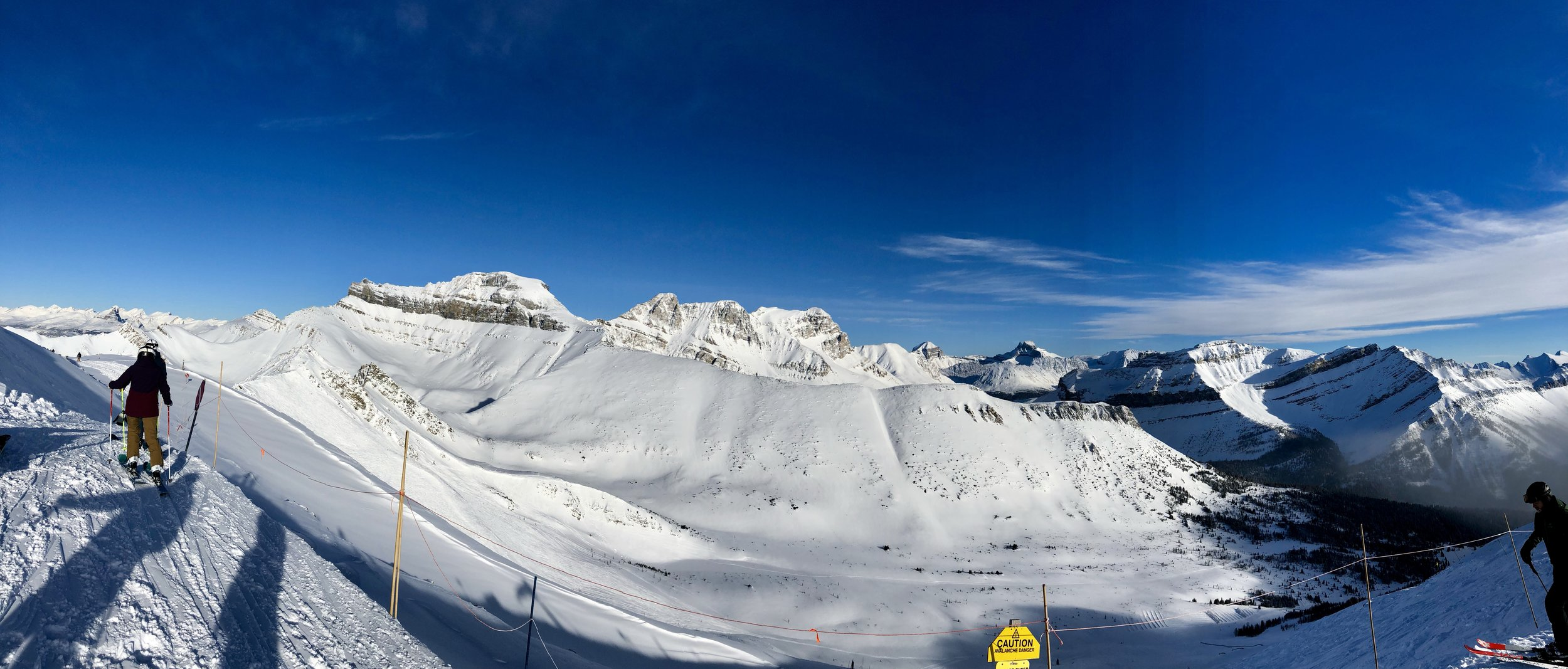 Lake Louise, top of the poma lift