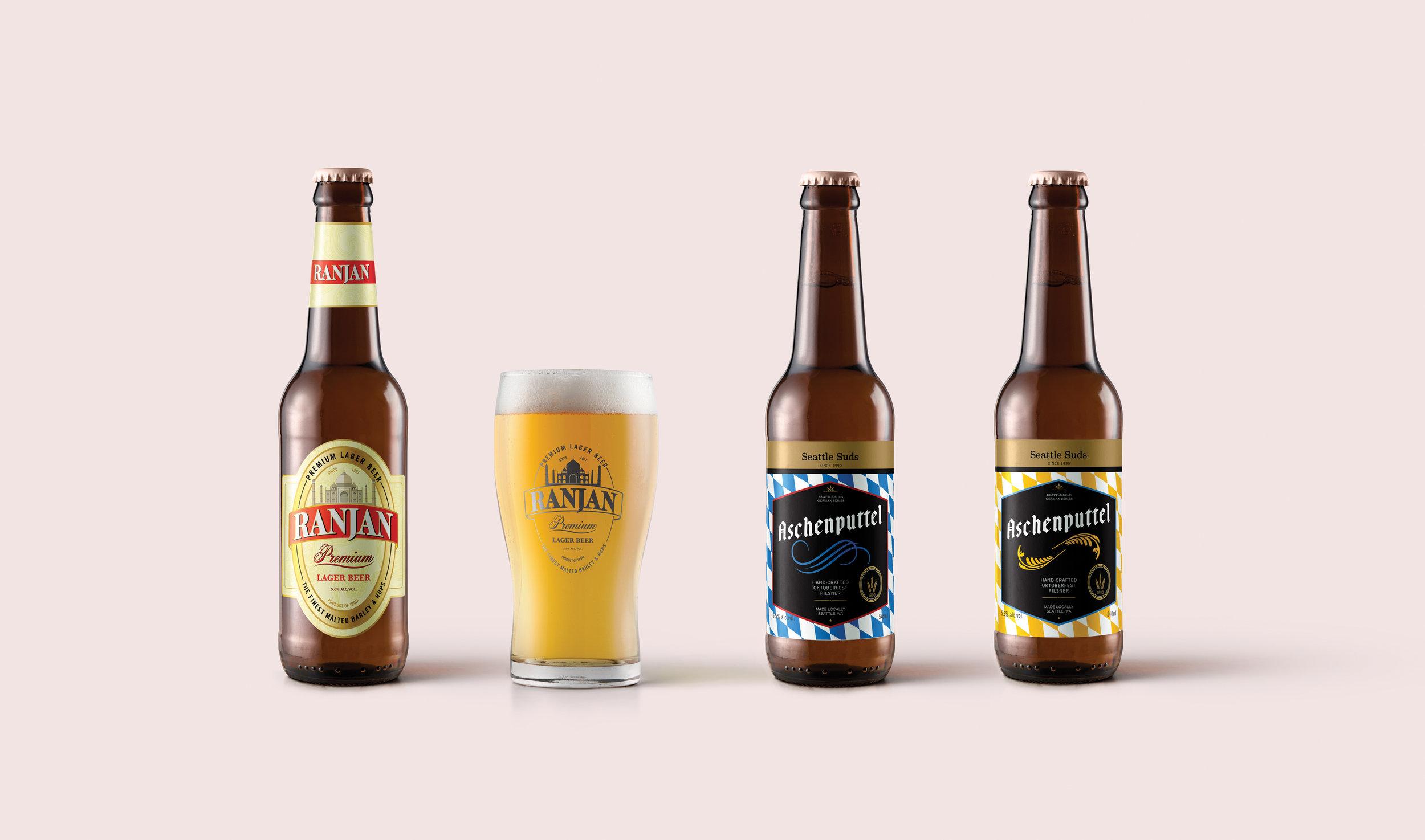 Aladdin & Cinderella Themed Beer Labels,  Recurring