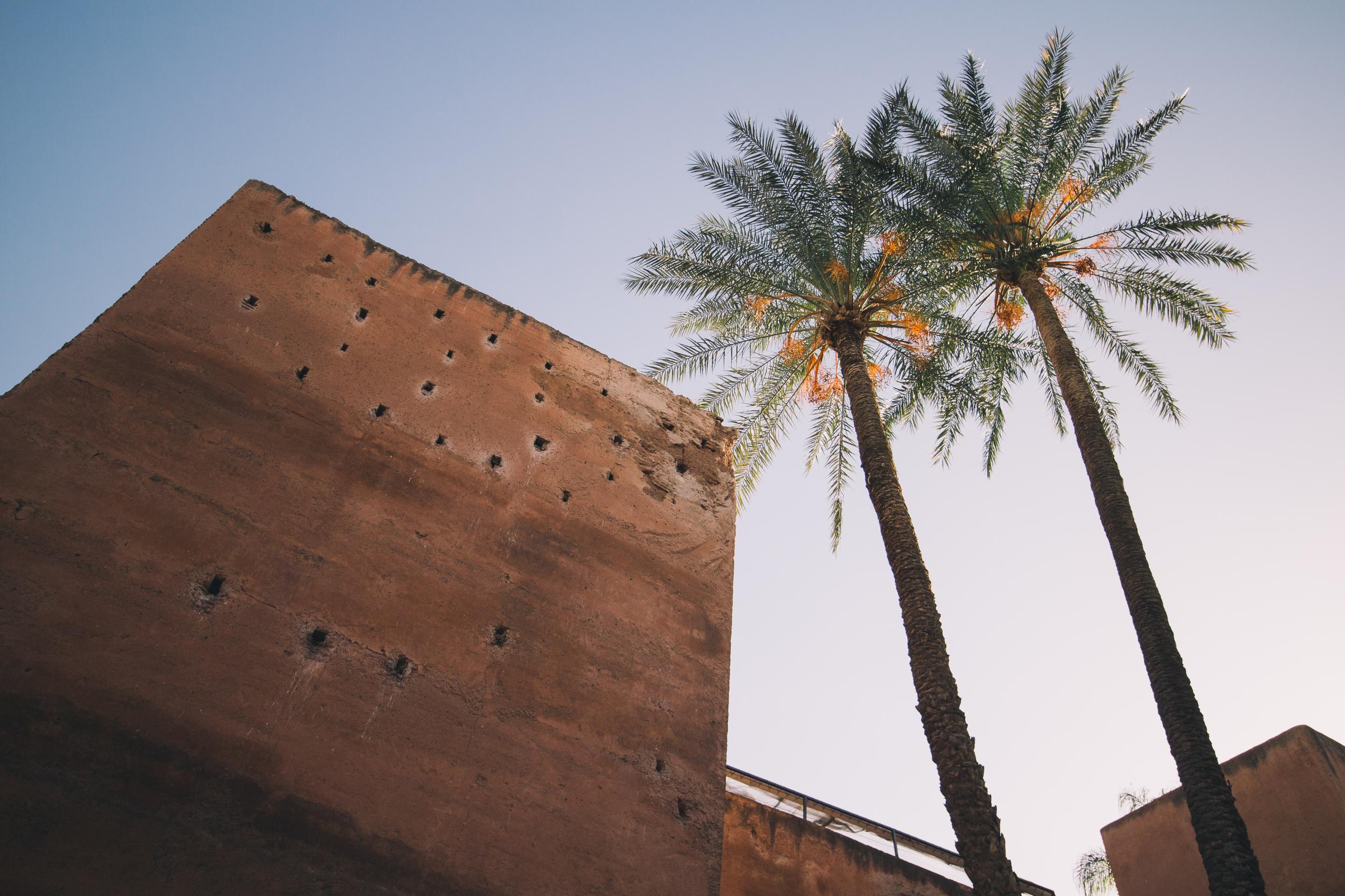 Saadian Tombs Courtyard