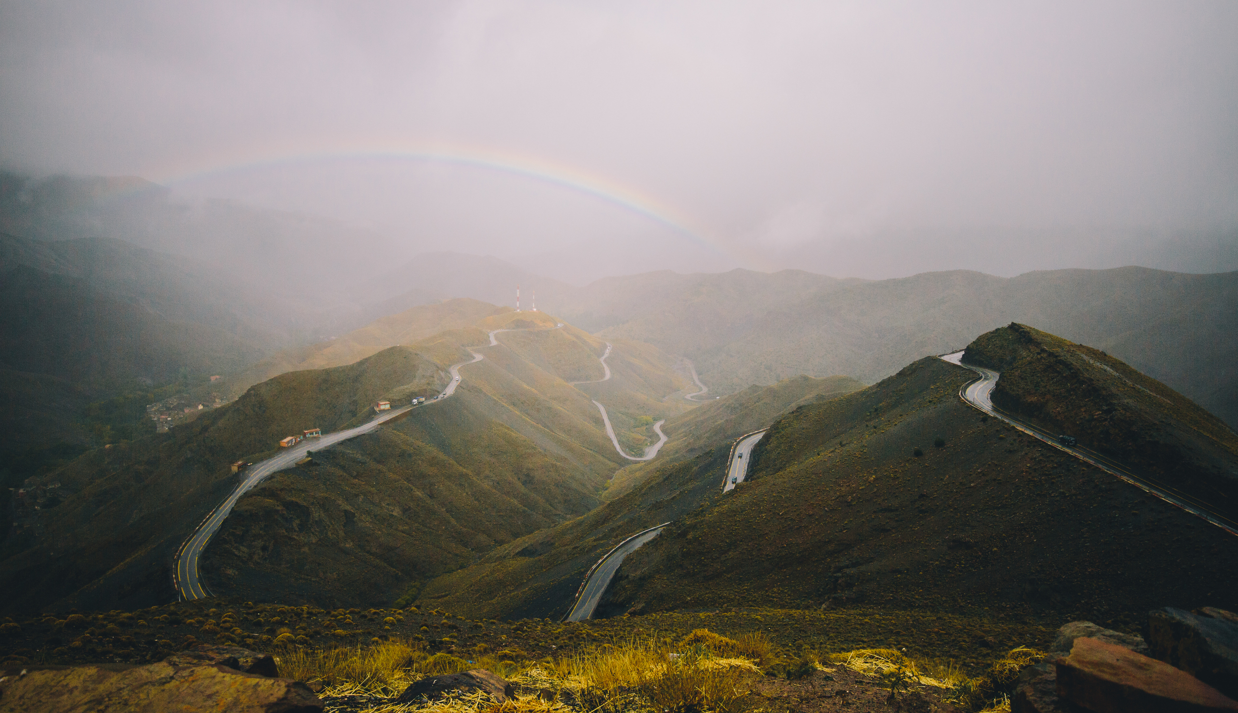 Rainbow in the High Atlas Mountains