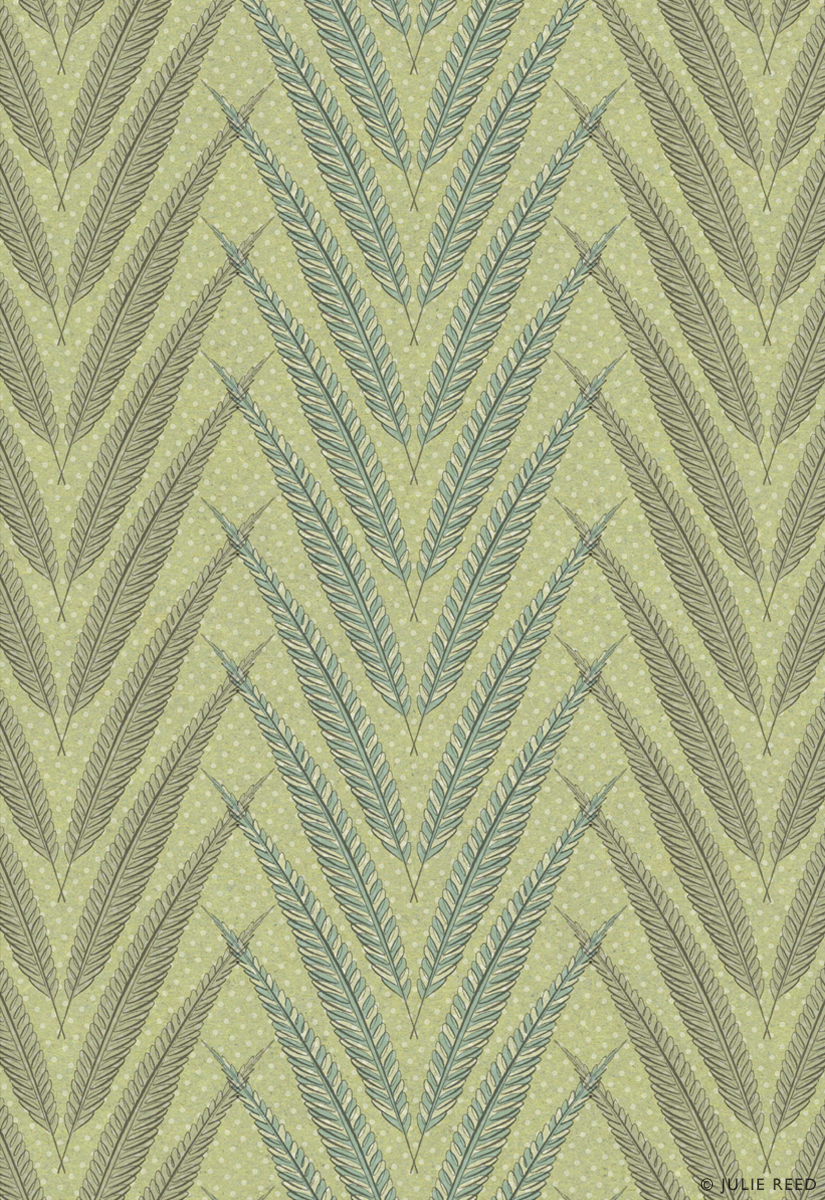 FEATHER STRIPE • GREEN