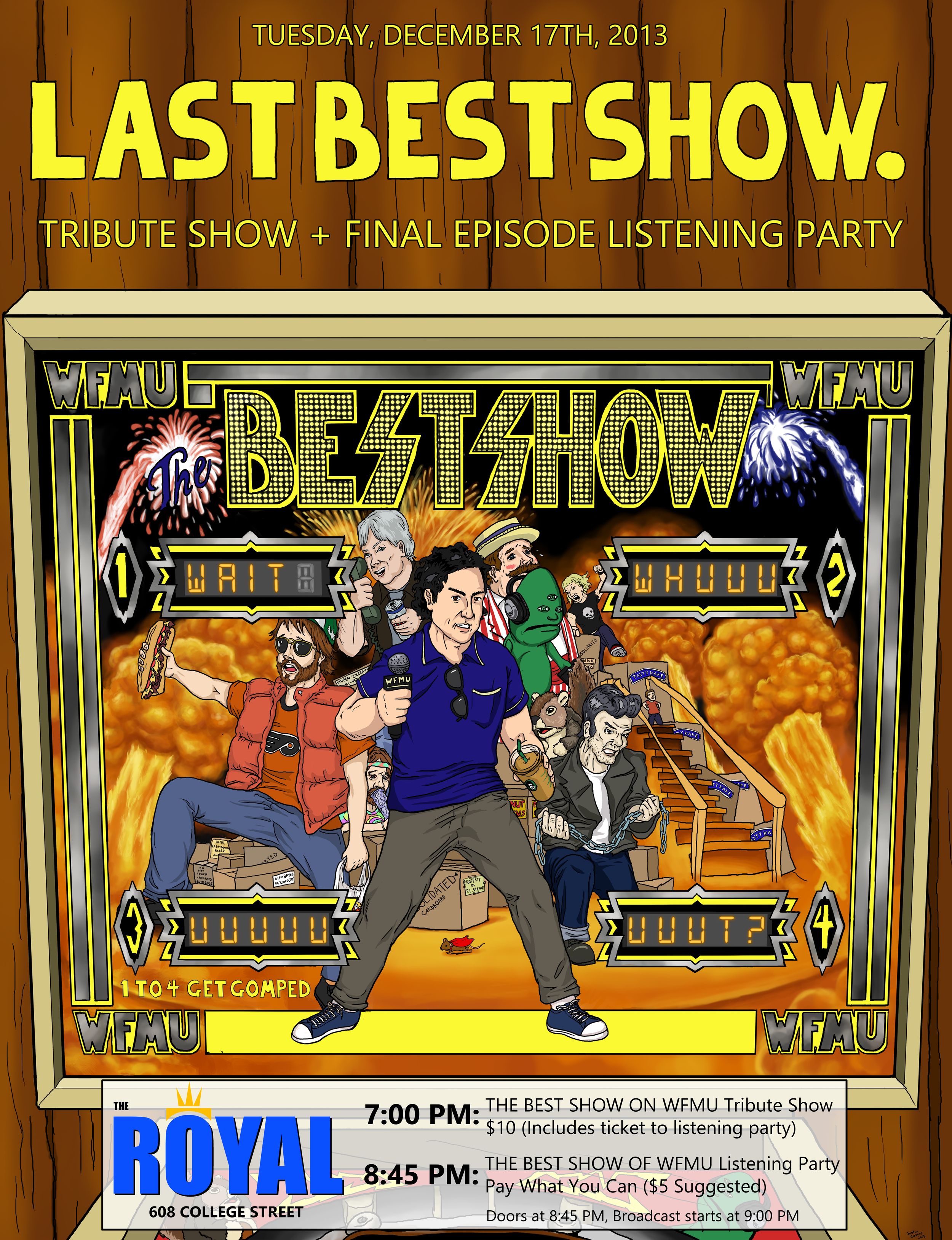 The Best Show on WFMU final episode poster.