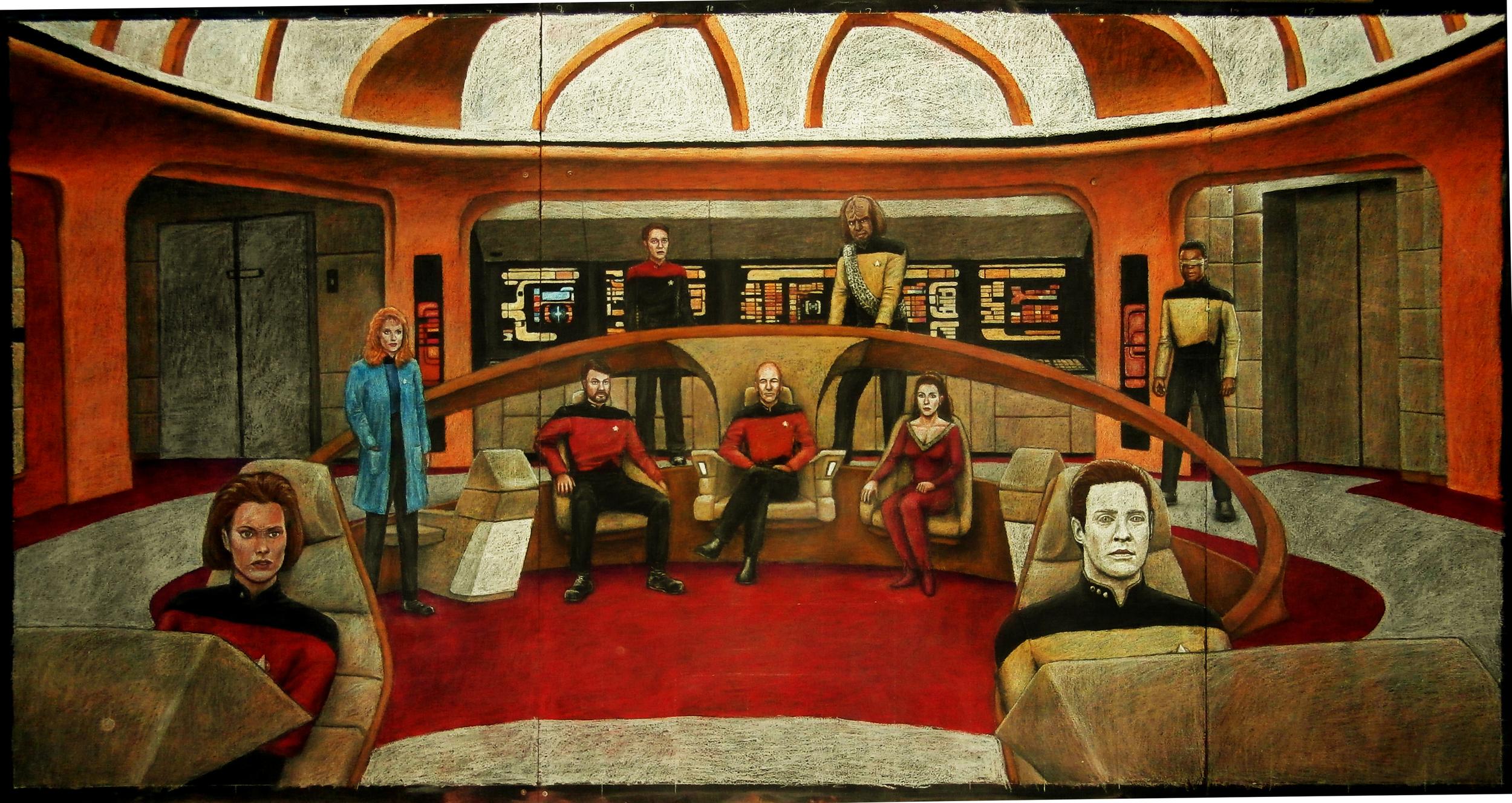 Star Trek: The Next Generation chalk mural