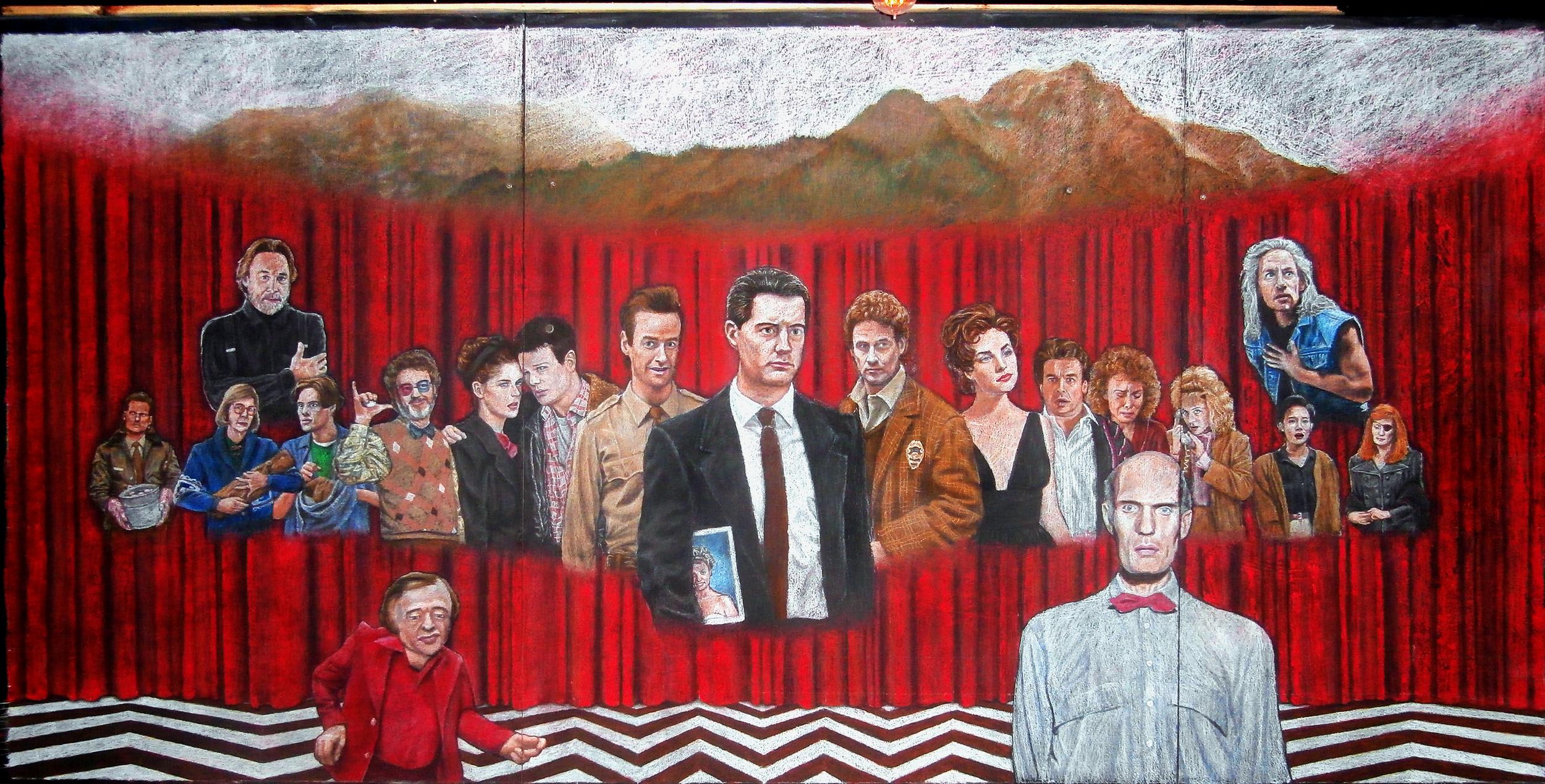 Twin Peaks Chalk Mural