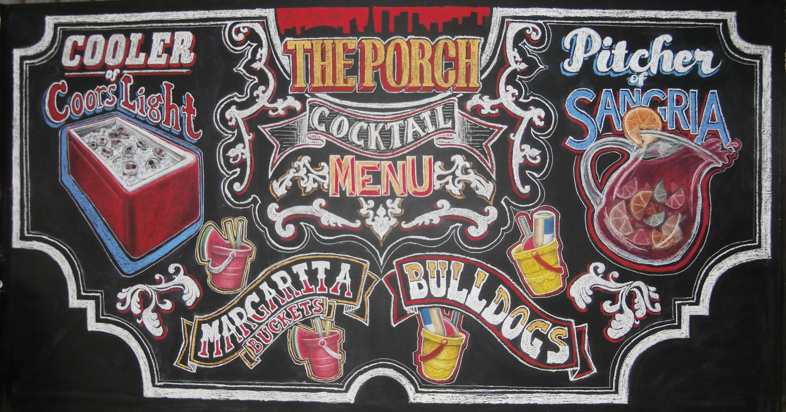 The Porch menu