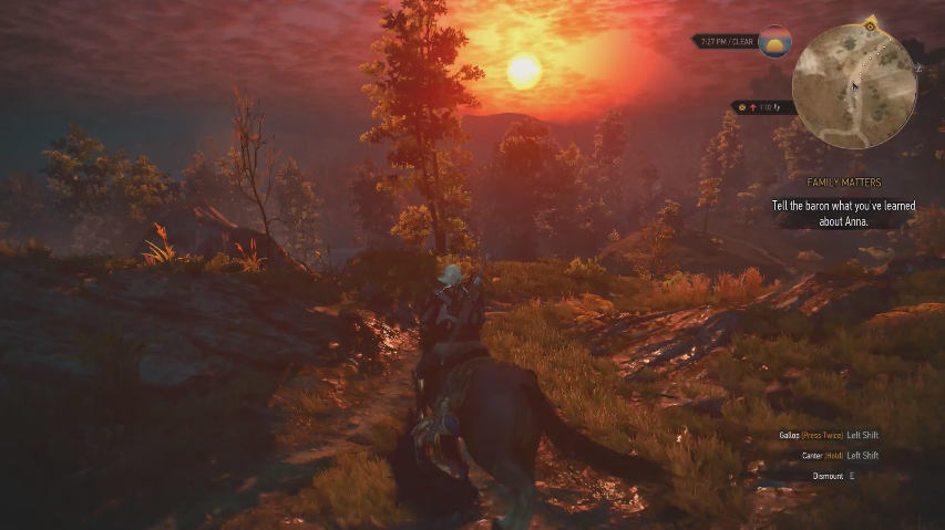 The Beautiful Sunset - The Witcher 3: Wild Hunt Review