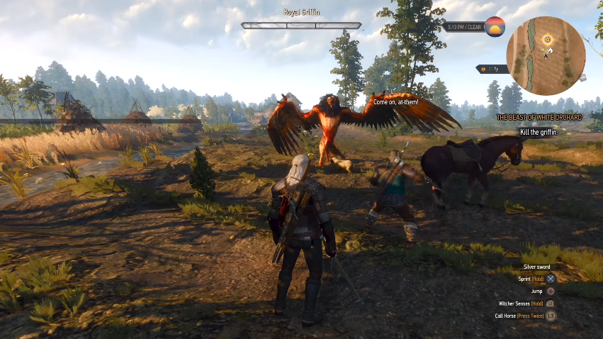 Fighting the Griffin - The Witcher 3: Wild Hunt Review
