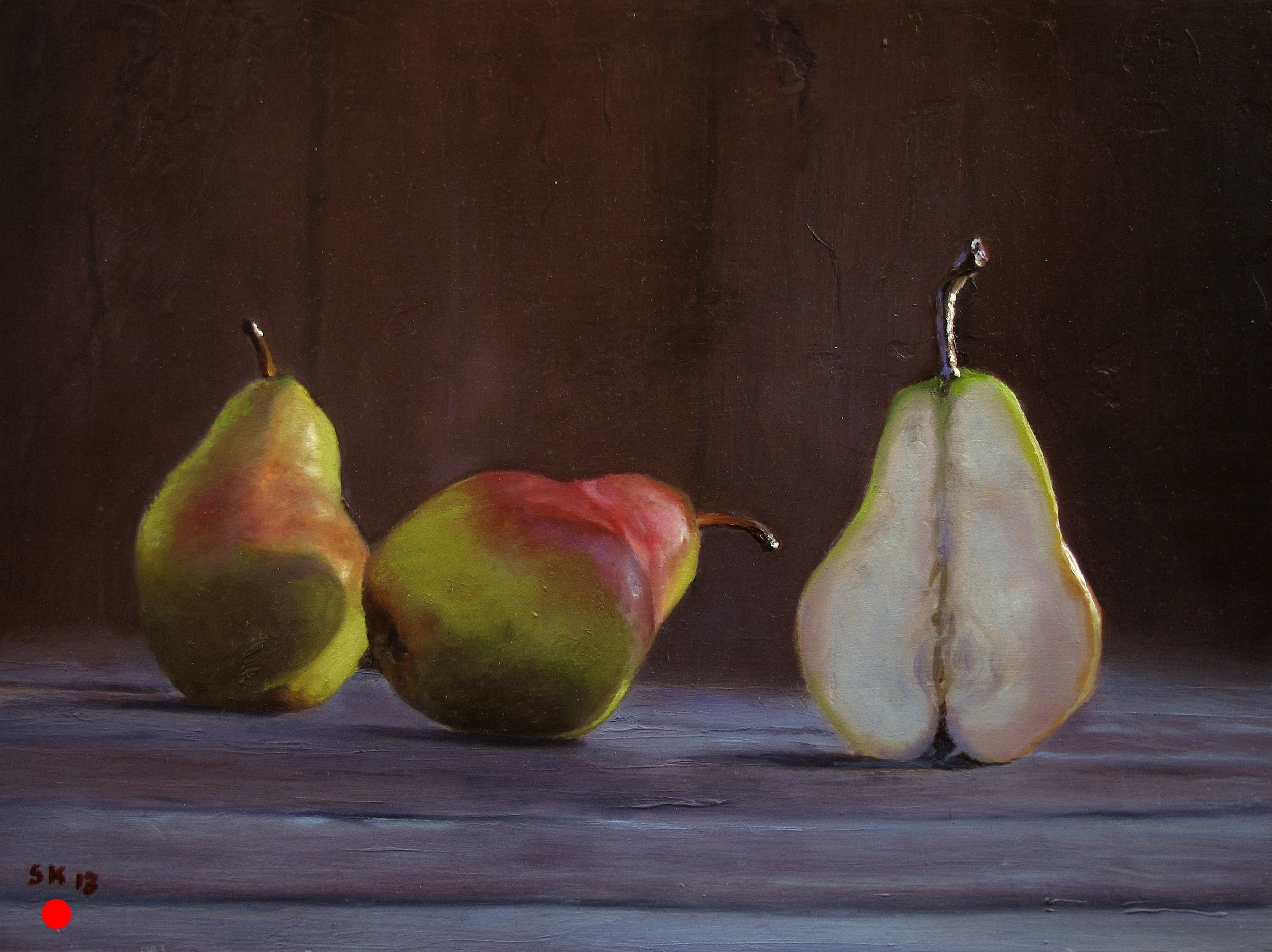 Three Pears in the Afternoon