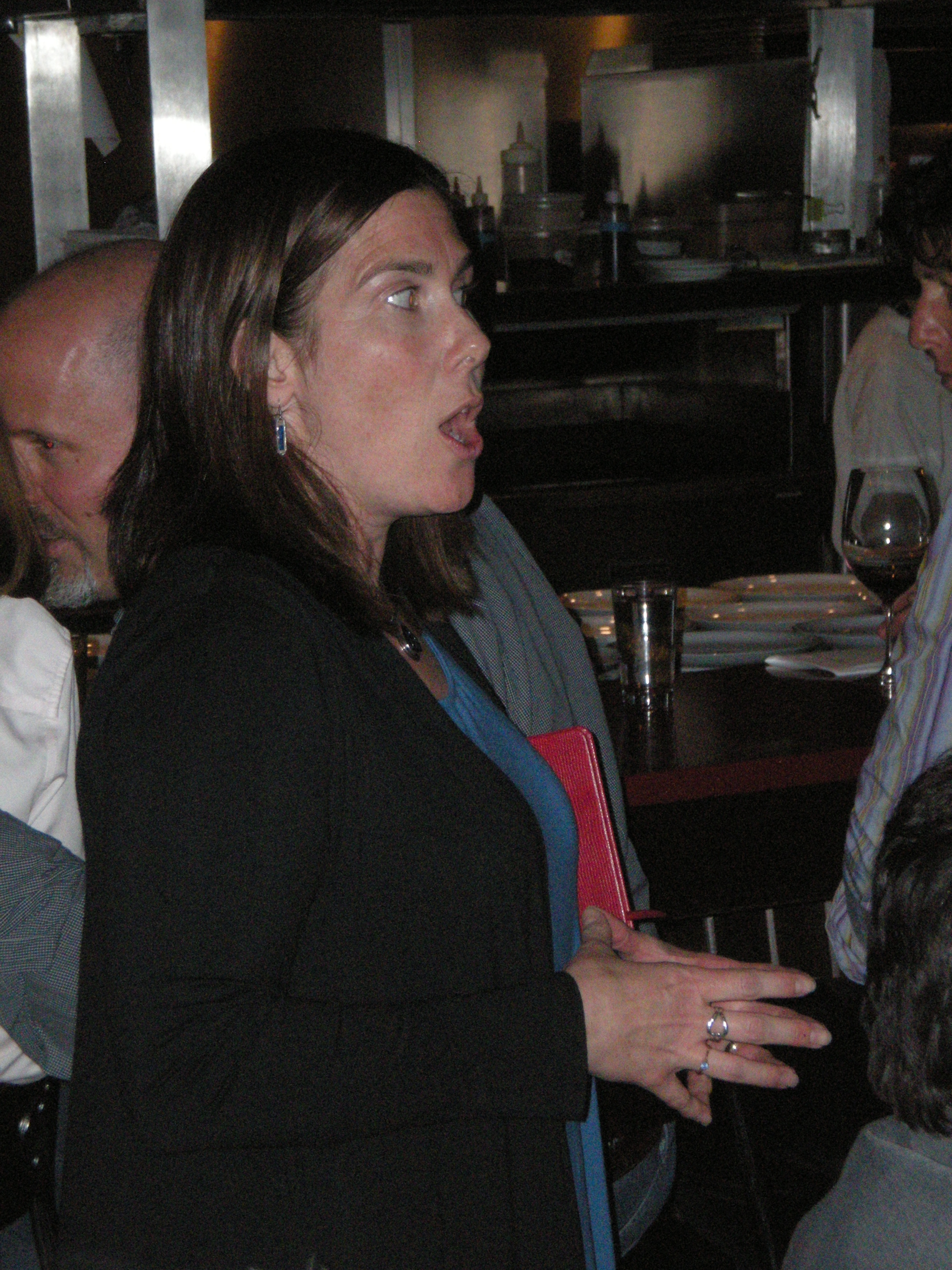 Heather Leslie of Brown University talks to guests about managing marine ecosystems