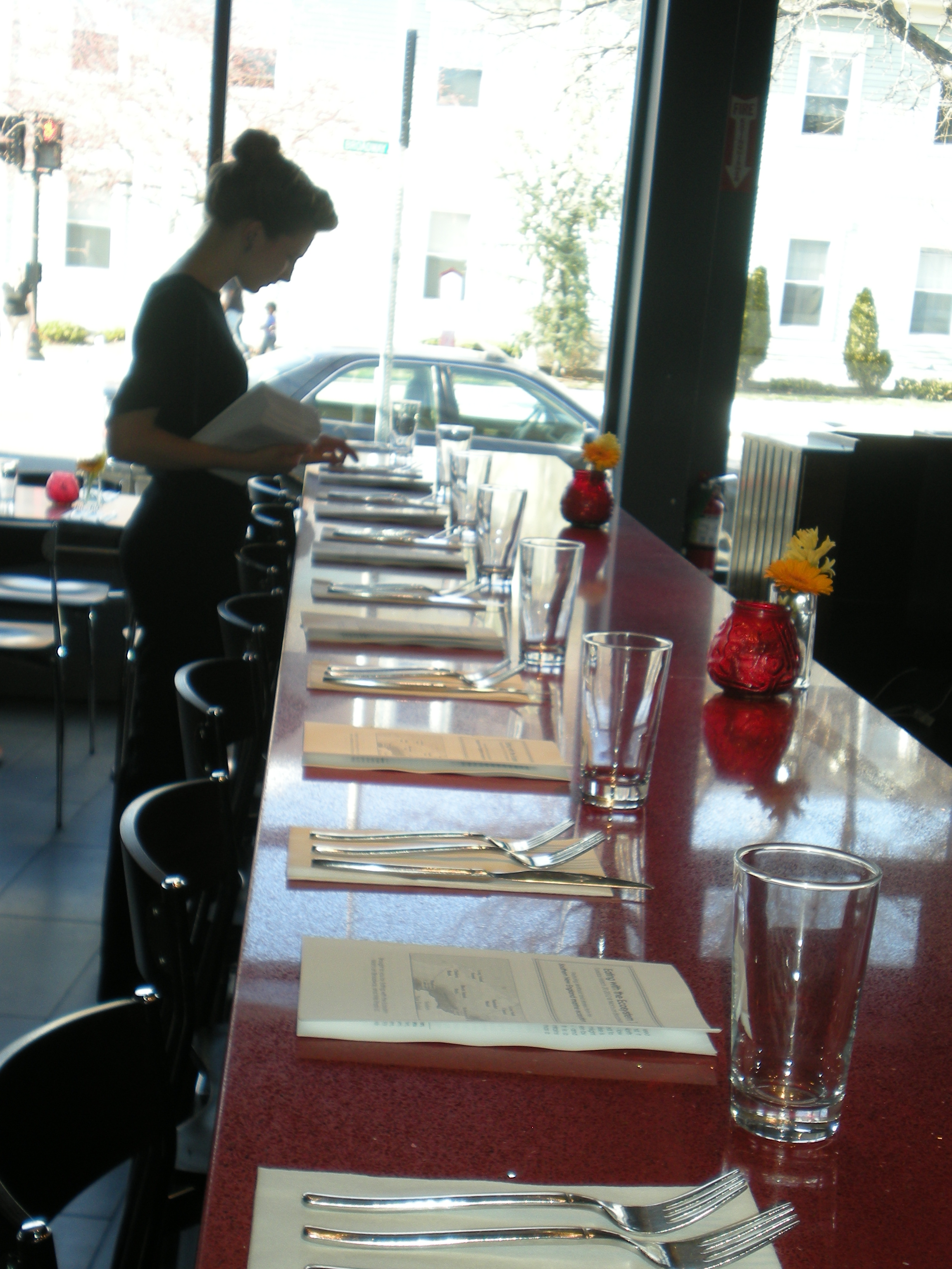 Server lays out settings at Nick's on Broadway