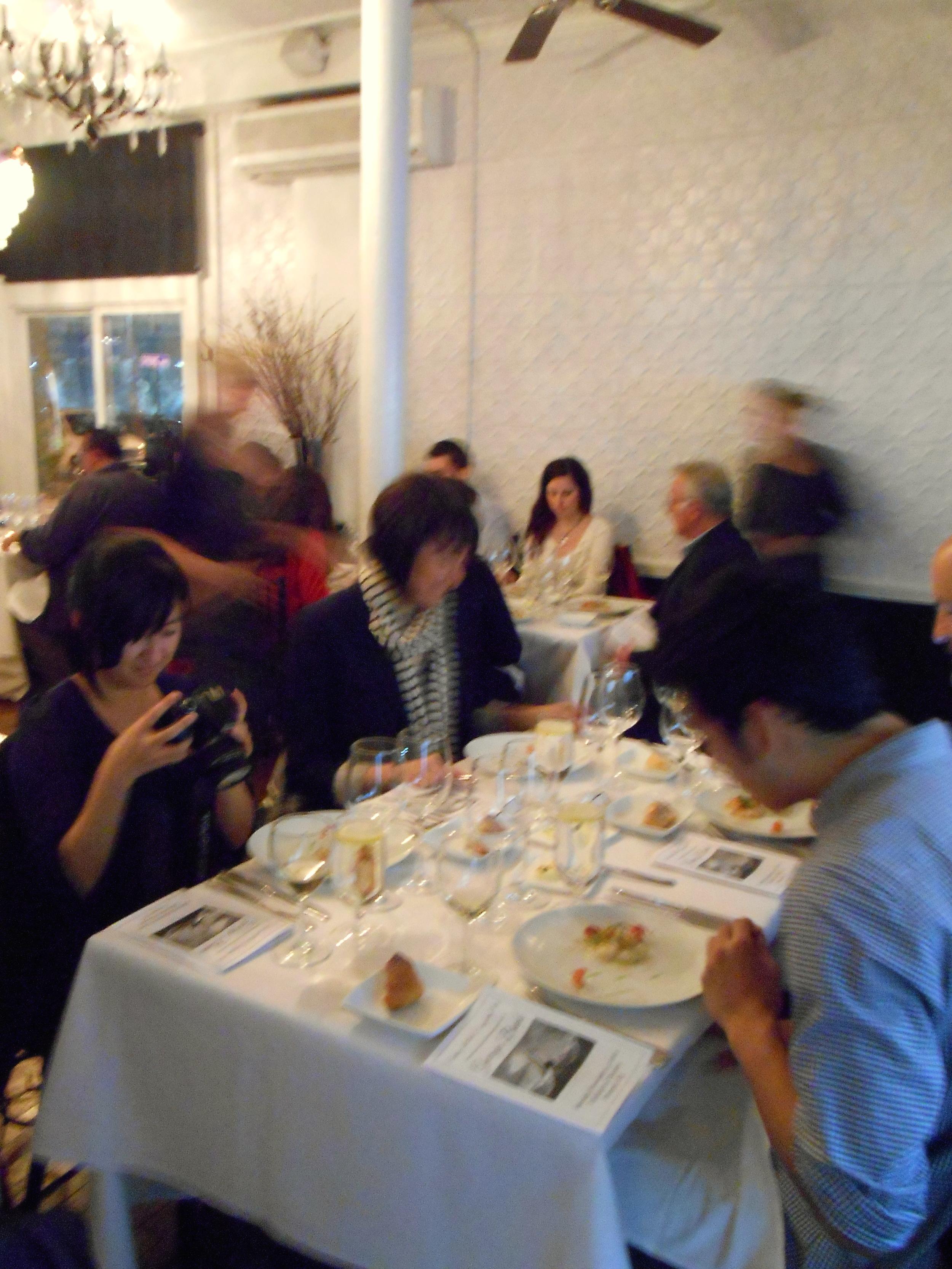 Guests enjoy the monkfish dish
