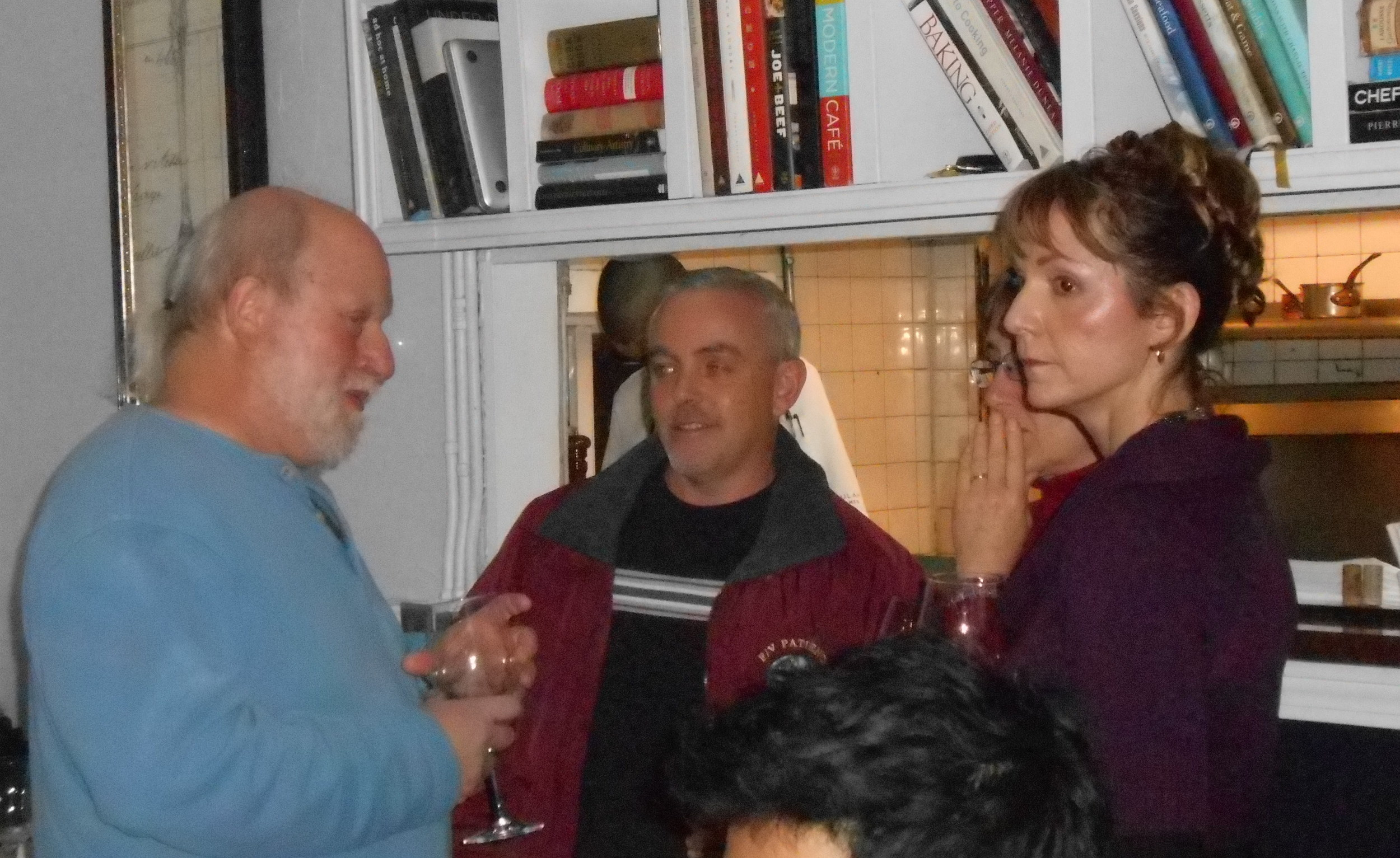 Scientist Peter Auster and fisherman Tommy Quintin and wife Nancy get to know each other