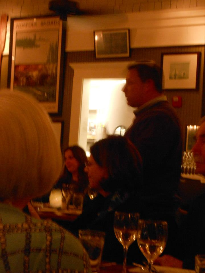 Guests listen to Billy Silvia, commercial fisherman from Bristol, RI, as he explains the changes he's seen in fish populations in Narragansett Bay.