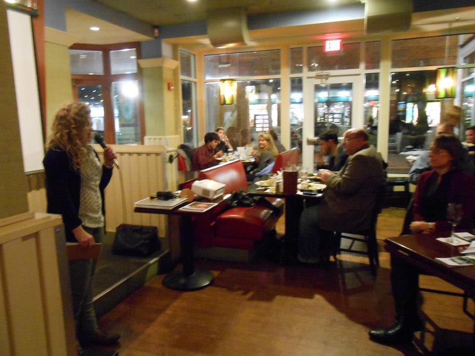 Rhode Island fisherman Katie Eagan enthralls guests with her story of being a commercial fisherman.