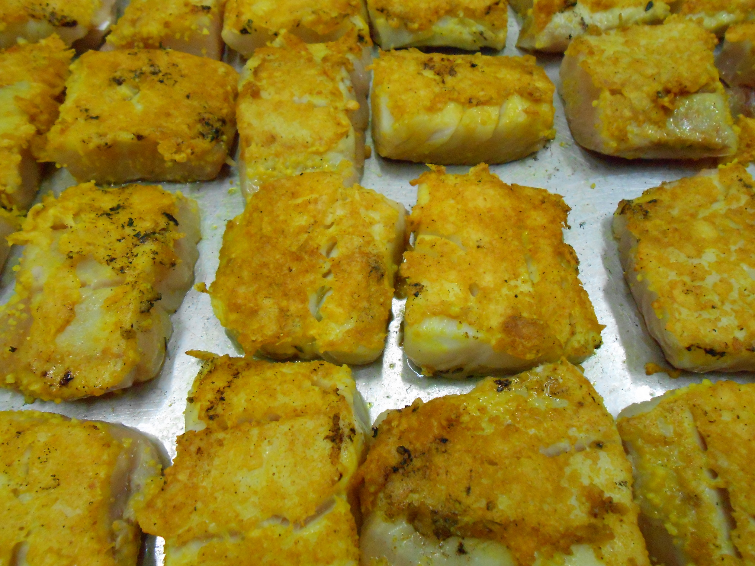 Parmesan-encrusted pollock