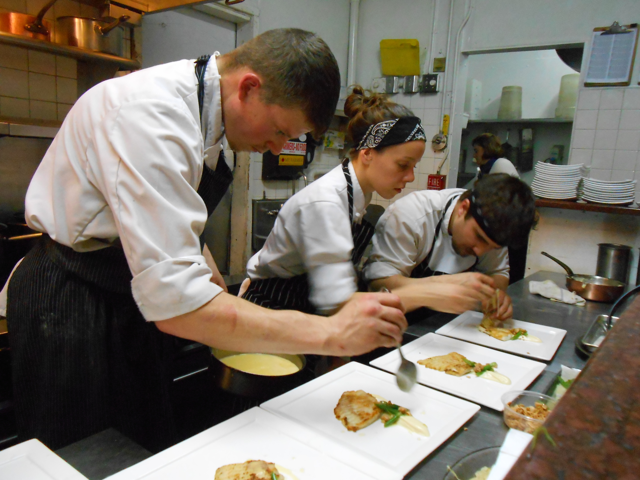 Plating the skate dish