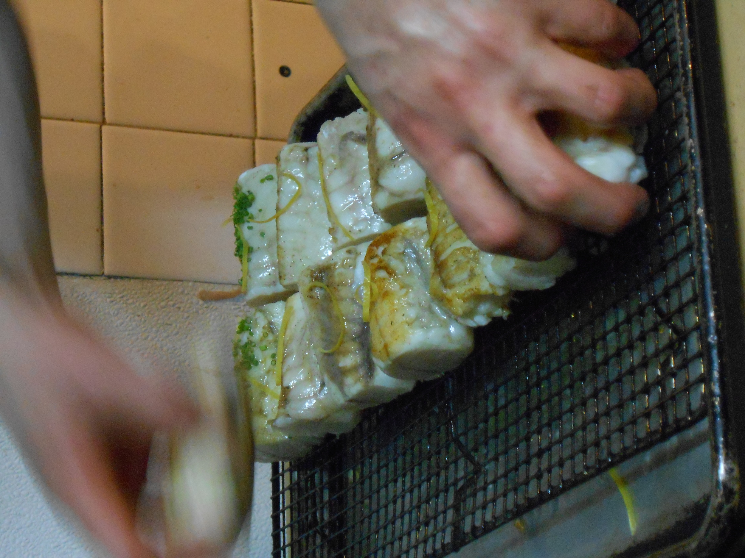 Preparing the monkfish