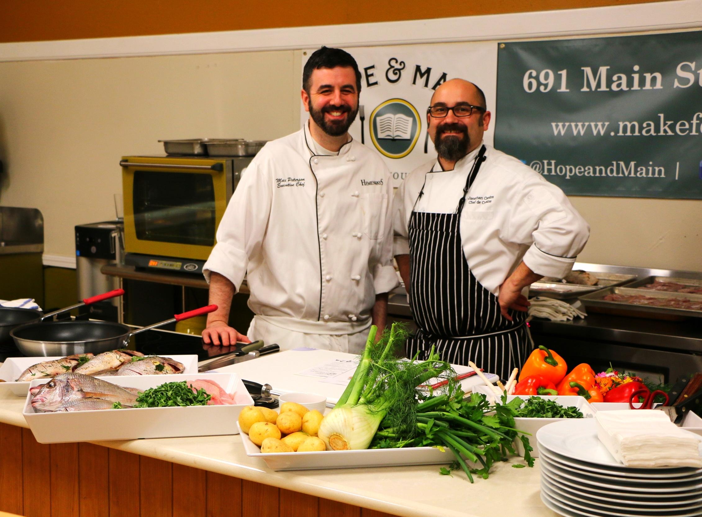 Chef Max Peterson and Jonathan Cambra