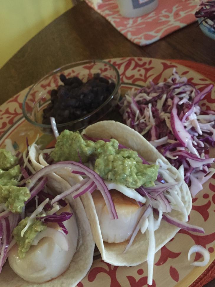 Scallop Tacos!