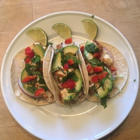 blackened halibut southwest-flavored tacos