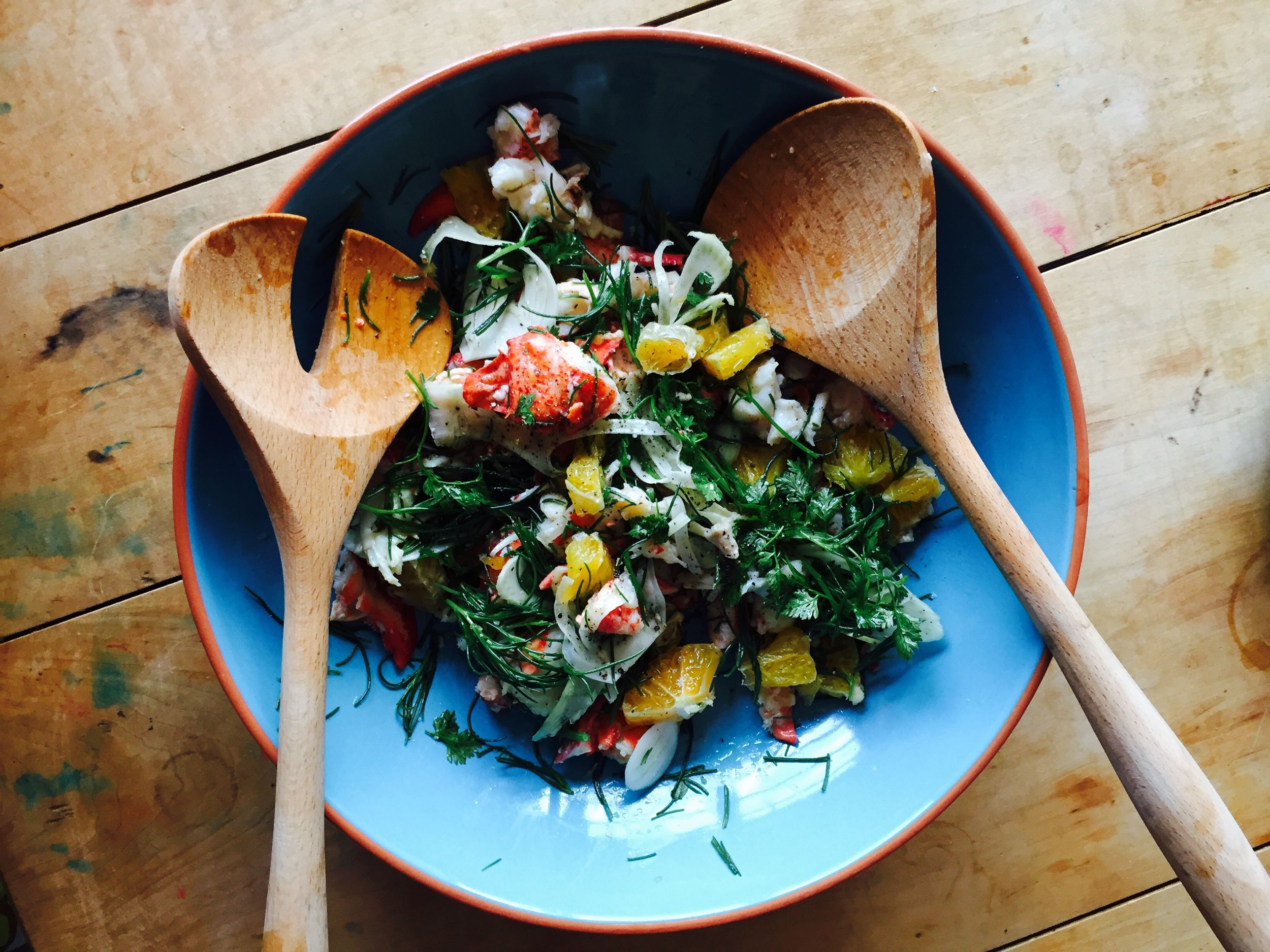 Lobster Salad with oranges, fennel and chervil