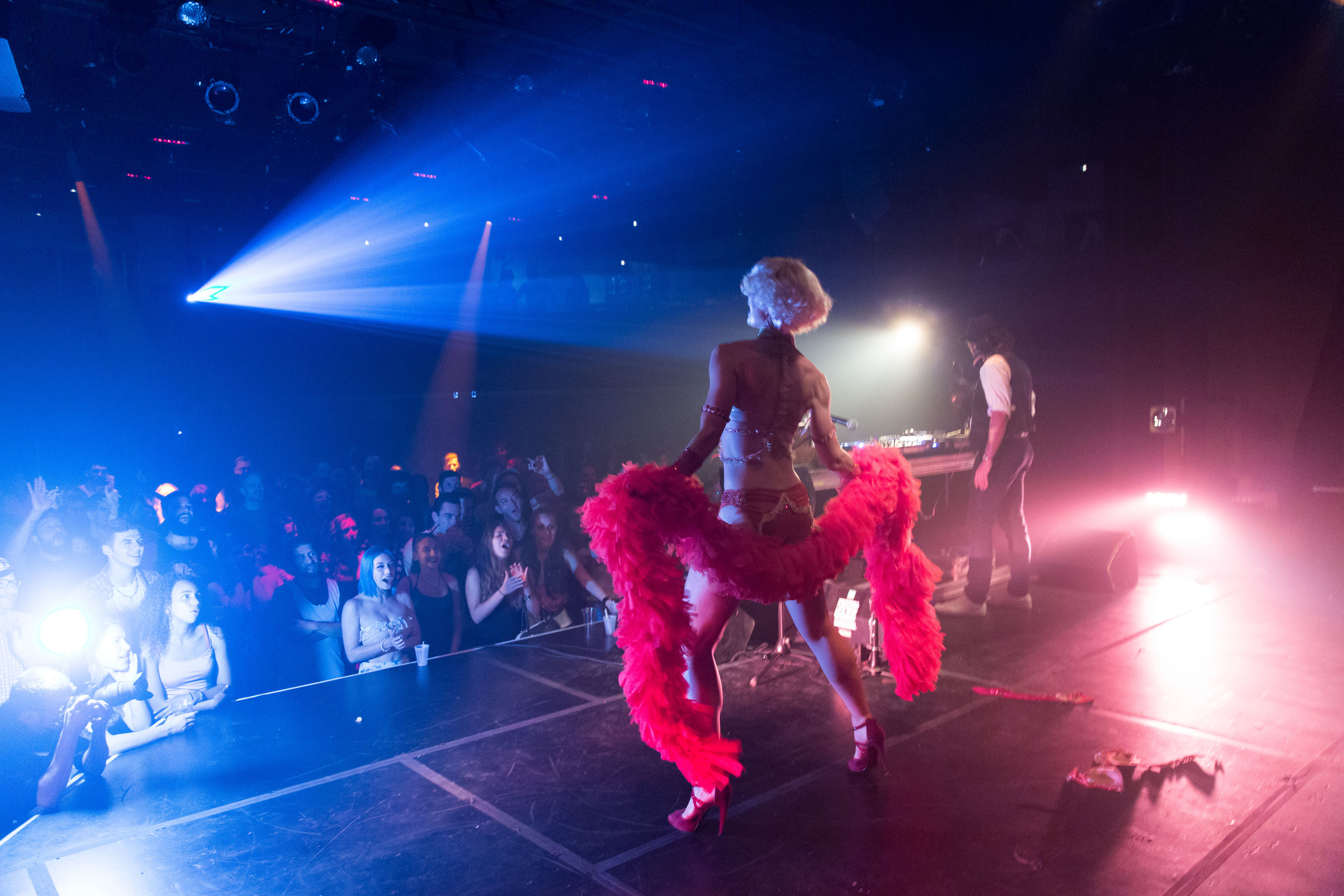 rates for burlesque show by lady josephine - Click on the name of the act to see more details on my portfolio page!Photo by Dumais Photo from my show with Speakeasy ElectroSwing at Montreal International Jazz Festival 2016