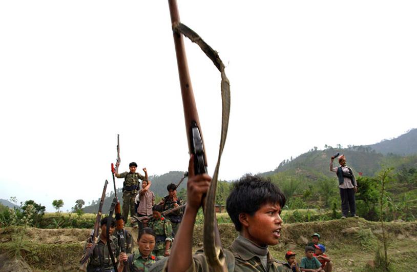 Maoist insurgents, many of them children