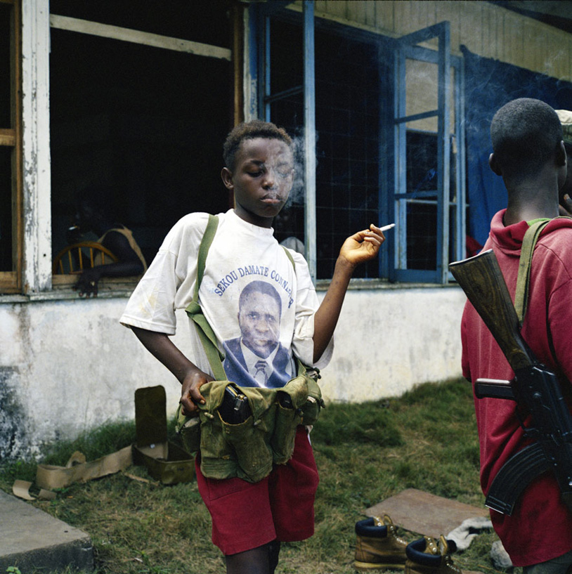 A young armed fighter