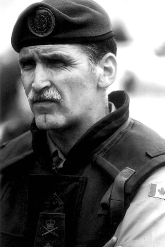 LGen Roméo Dallaire, while he was commander of the UN peacekeeping force in Rwanda in 1993 and 1994.