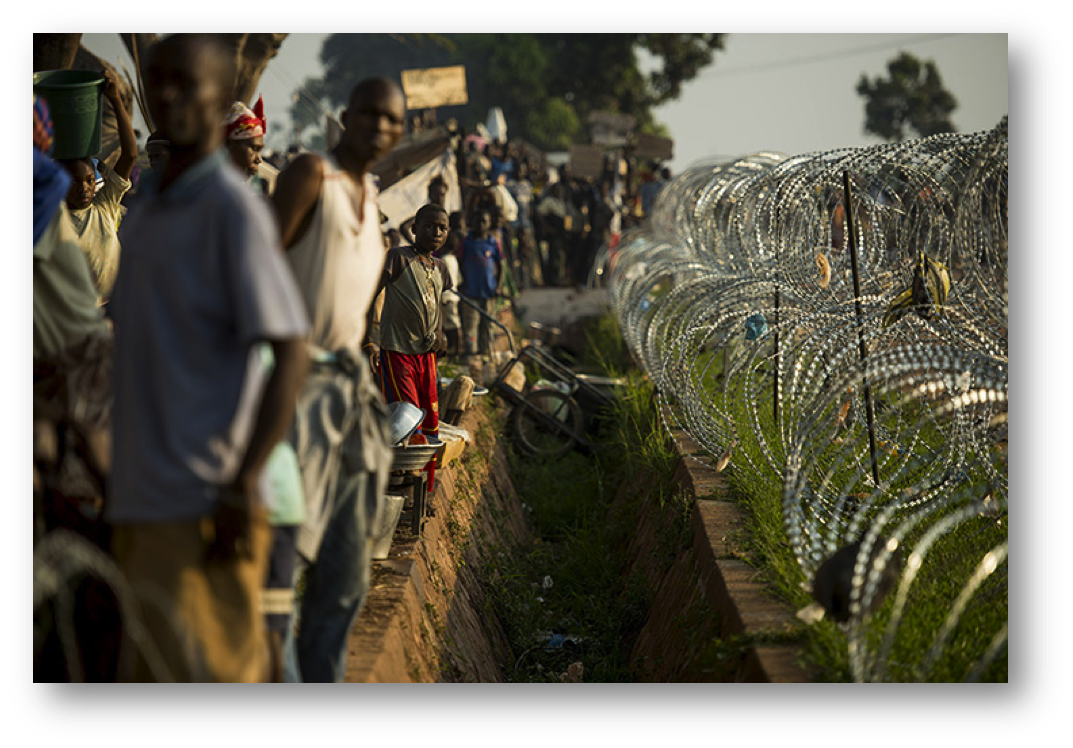 Refugee camp near the airport in Bangui -     Photograph: Fred Dufour/AFP/Getty Images; Source: The Guardian
