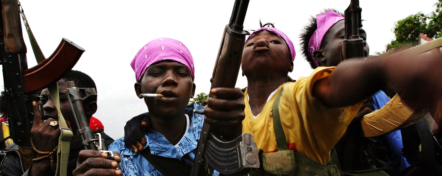 "Photo from the ""Child Soldiers"" exhibit"
