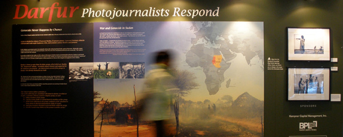 "Exhibition, ""Darfur: Photojournalists Respond"" at the Boston Library"