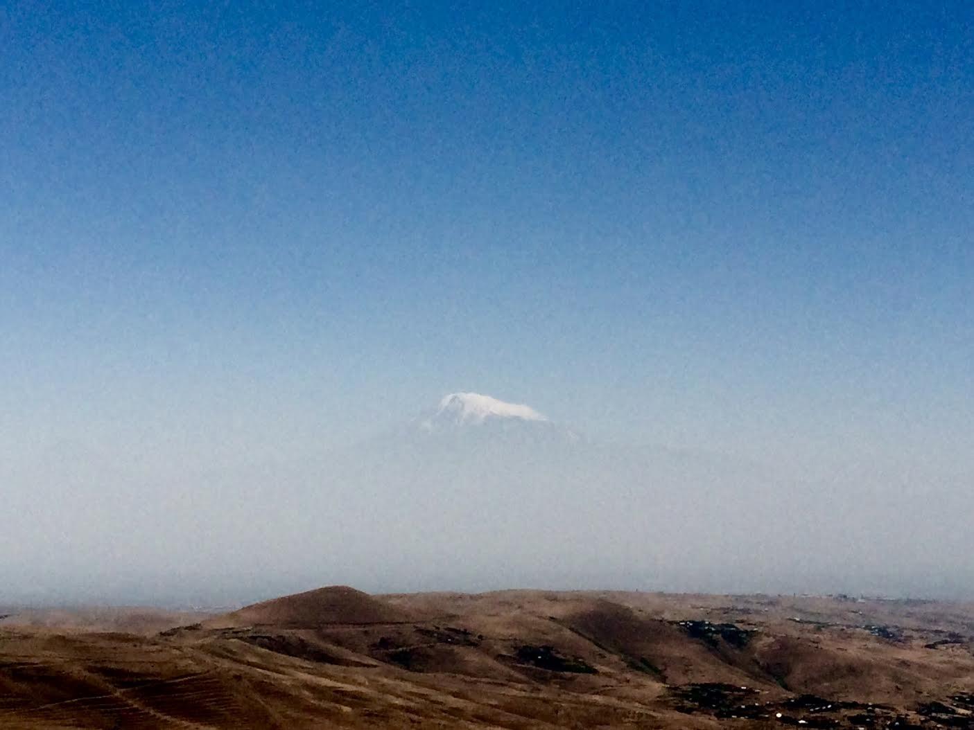 A rare peek at the summit of Mt Ararat. Courtesy of Willhemina Wahlin
