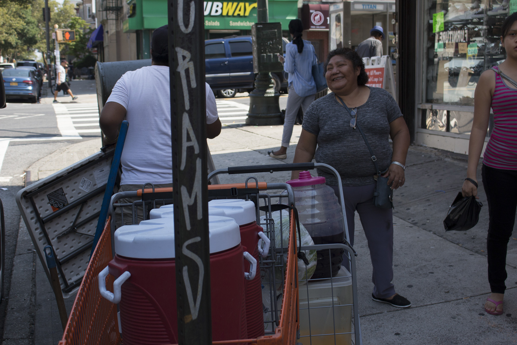 Teodosia works to support her son and his daughters. Her husband went back to Mexico and is there along with her parents. You can see that it is the love that Teodosia has for her family that drives her. August 22nd, 2017 Sunset Park, Brooklyn.