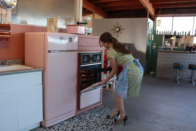 In the kitchen set.