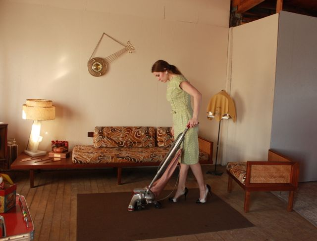 The setting is not complete with out the Kirby vacuum.