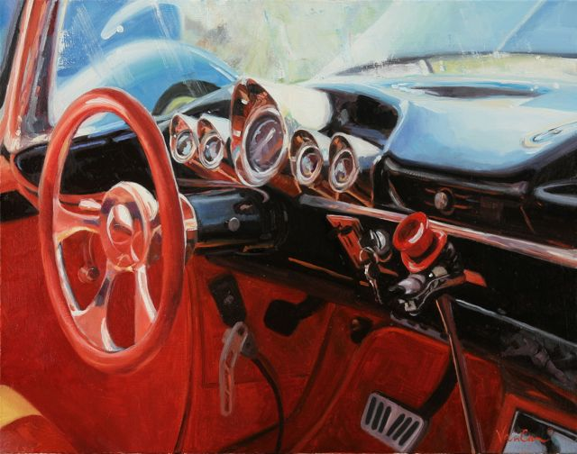 Road Rage, Oil on Canvas, 22x28, ©2013