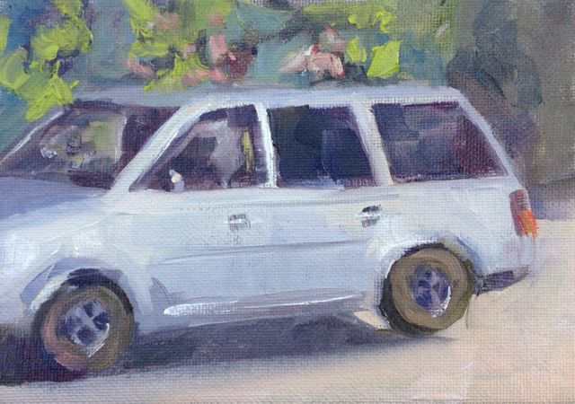 My VW and I have had numerous cross country adventures back to my Iowa roots. Funny how a little painting of your vehicle can project so many memories and feelings.