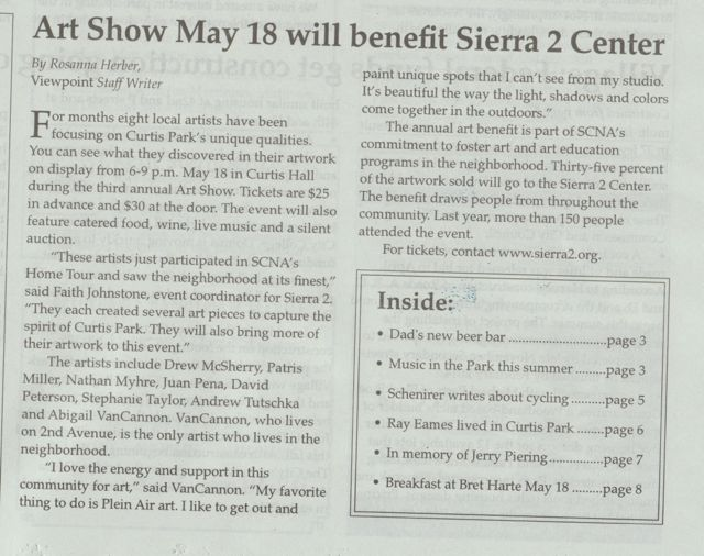 In the Curtis Park newspaper.