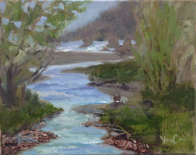 plein air Northern Coastal scene