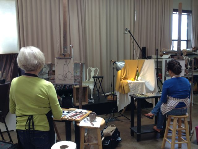 Ruth and Jean painting
