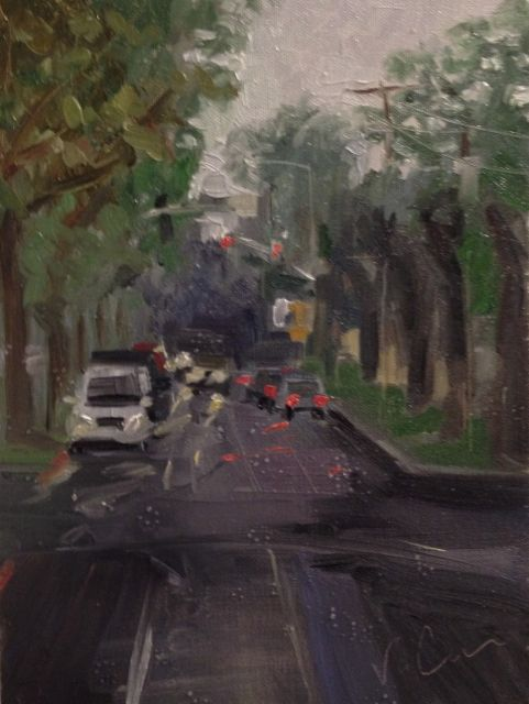 Rainy Streets - Oil on Canvas