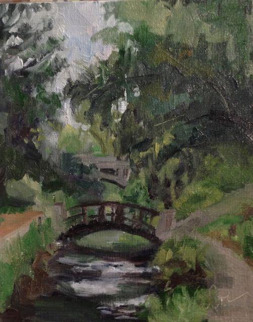 Along the Arboretum - Oil on Linen