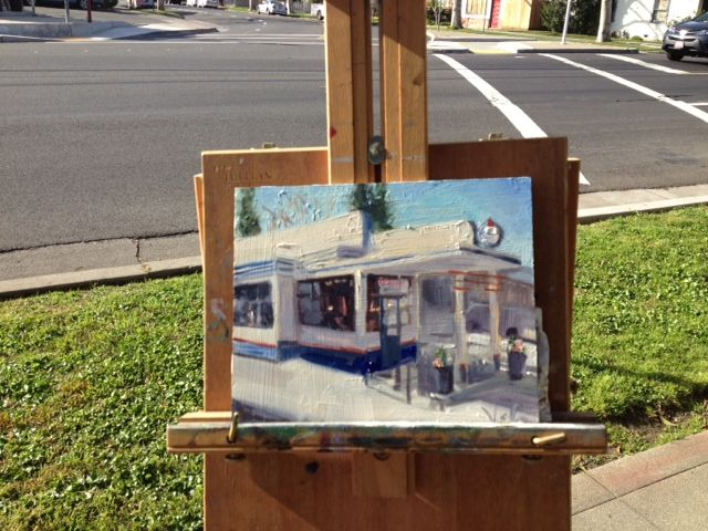 SOLD - Once a Filling Station, Oil on Canvas - Plein Air