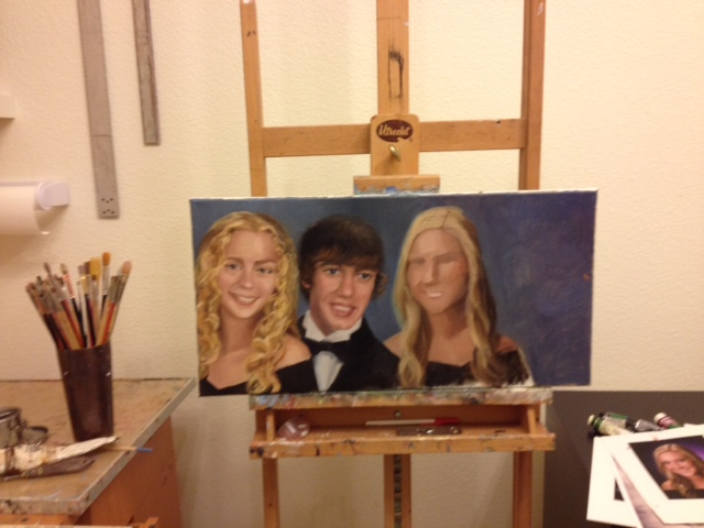 in process family portrait commission