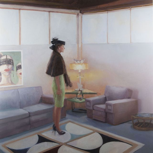 Futuristic Waiting - Oil on Canvas - ©2013