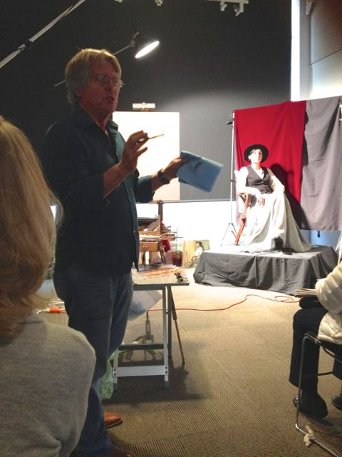 Craig Nelson, Oil Painter and Director of Fine Arts at AAU, gave figurative demos through out the weekend.