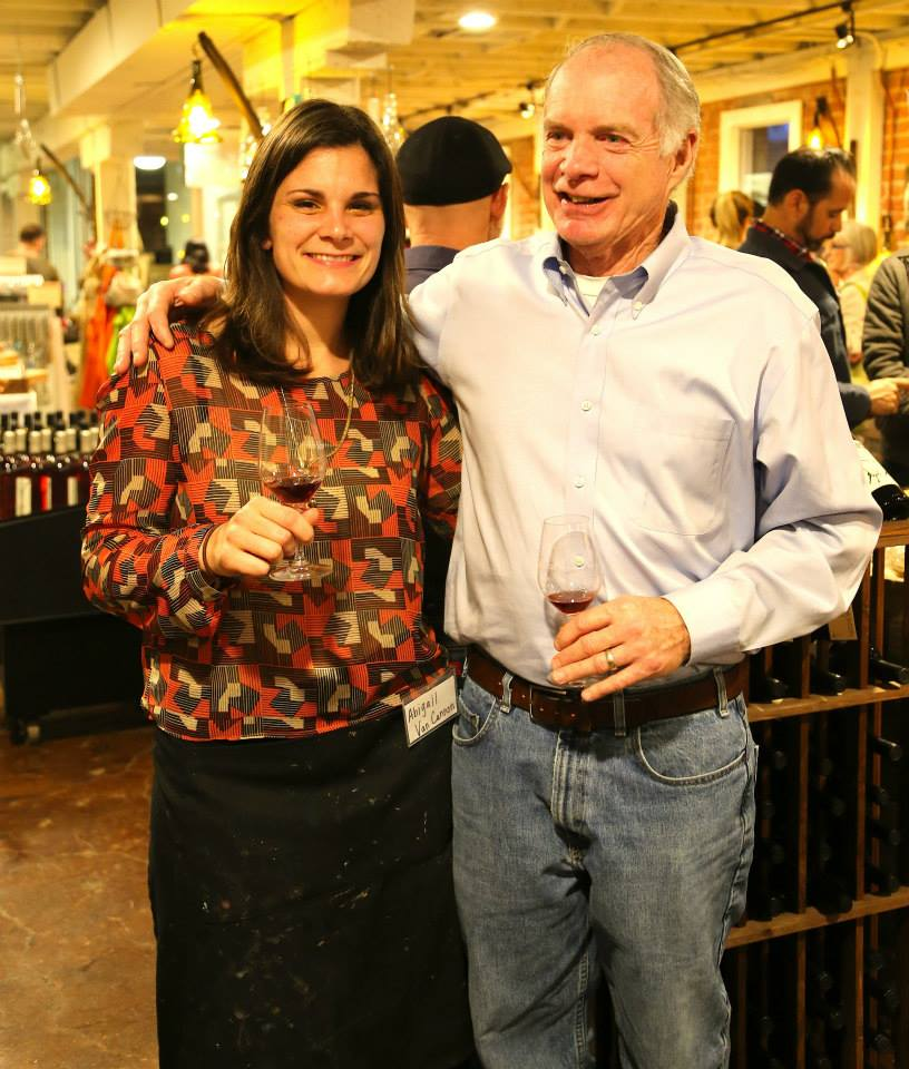 Abigail and Tom tasting some of Ficklin's wonderful port!