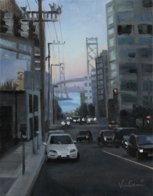 Towards the Bay - Oil on Canvas - 11x14 - $500